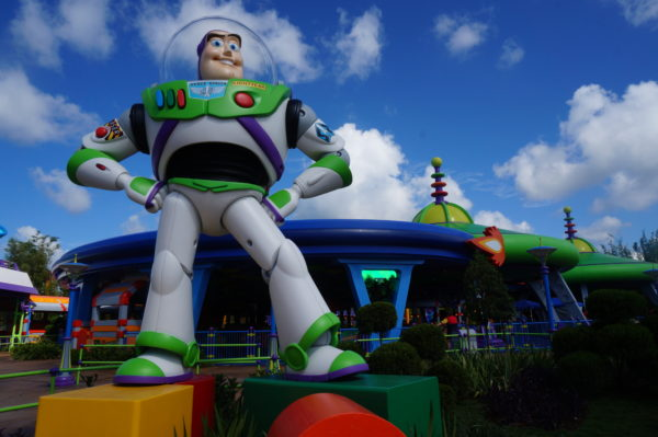 This Buzz Lightyear figure is larger than life- it really is huge!