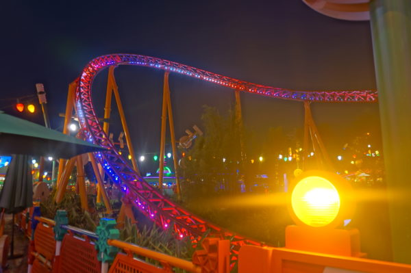 Slinky Dog Dash looks awesome at night!