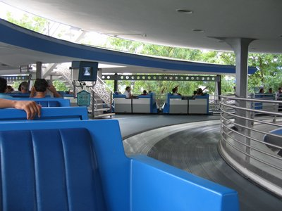 The cars of the PeopleMover provide a relaxing overview of Tomorrowland and the ability to experience a key piece of Disney history.