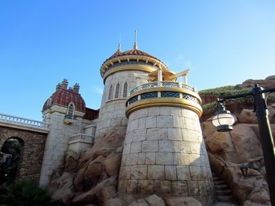 Prince Eric's castle is both majestic and beautiful.