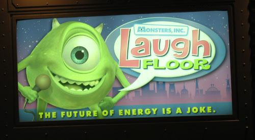 The Monsters Laugh Floor is lots of fun.