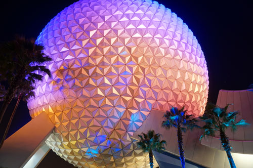 No raindrops will be falling on your head under Spaceship Earth.