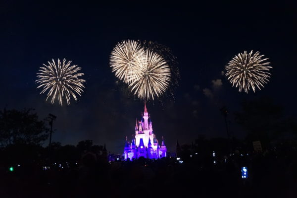 The fireworks are just as beautiful from a far as they are up close!