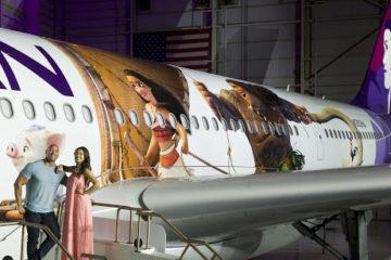 Hawaiian Airlines New Moana Wrapped Plane. PC: Hawaiian Airlines