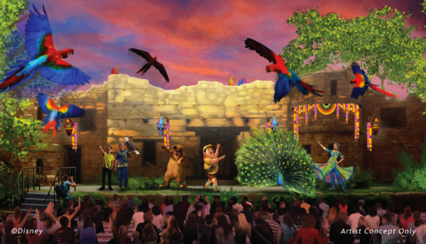 Concept art of the new bird show at Disney's Animal Kingdom. Photo credits (C) Disney Enterprises, Inc. All Rights Reserved