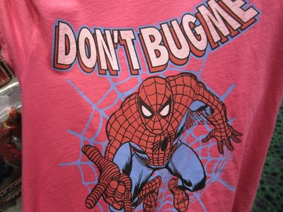 Nice red Spiderman t-shirt.