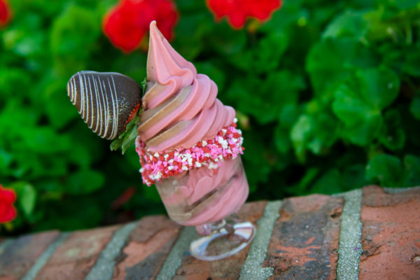 DOLE Whip Strawberry (yes, that is a thing) at Marketplace Snacks. Photo credits (C) Disney Enterprises, Inc. All Rights Reserved