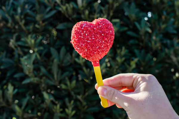 Strawberry-flavored cake pop. Photo credits (C) Disney Enterprises, Inc. All Rights Reserved