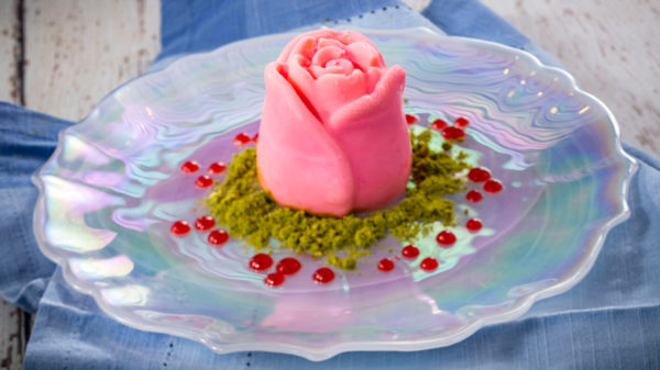 Vanilla, rose water, and pistachio panna cotta. Photo credits (C) Disney Enterprises, Inc. All Rights Reserved