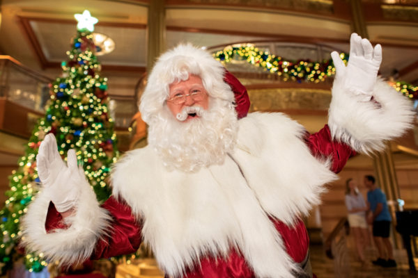Even Santa like to cruise! Photo credits (C) Disney Enterprises, Inc. All Rights Reserved
