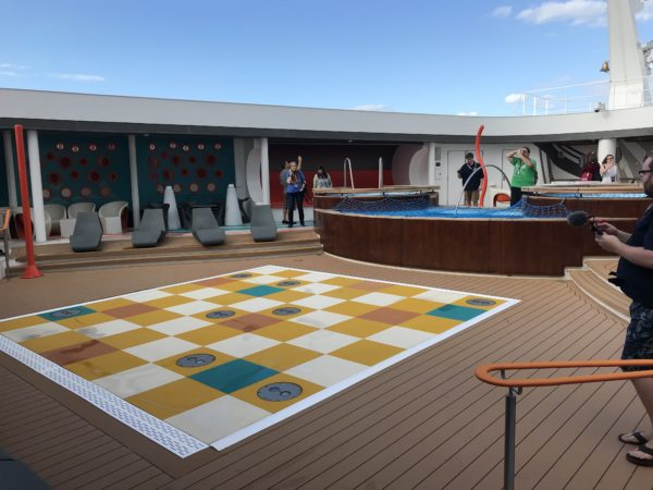 There are games on the sun deck too!