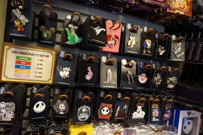 Disney villain trading pins.