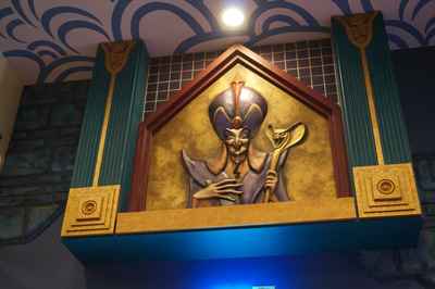 The artwork shows plenty of villains - like Jafar.