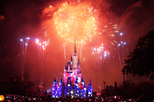Disney fireworks are always great, but are amazing on July 4.