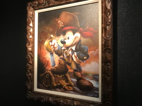 Mickey looks dashing dressed as a pirate!