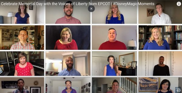 EPCOT's Voices Of Liberty celebrate Memorial Day from home.