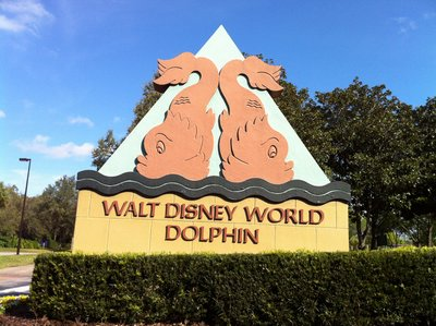 Entrance to the Walt Disney World Dolphin hotel.