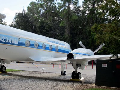 "The Gulfstream 1, also known as ""The Mouse,"" now rests in Disney's Hollywood Studios."