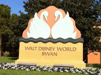 Entrance to the Walt Disney World Swan.