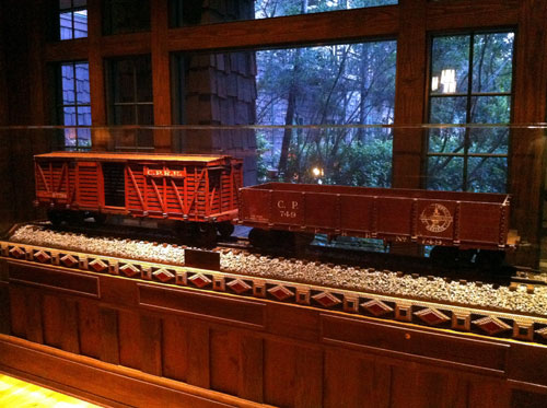 You will find plenty of train memorabilia in the Carolwood Pacific Room.