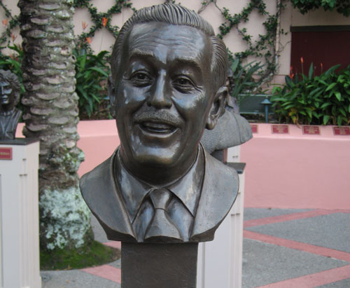 This bust of Walt is in a quiet corner of the park.