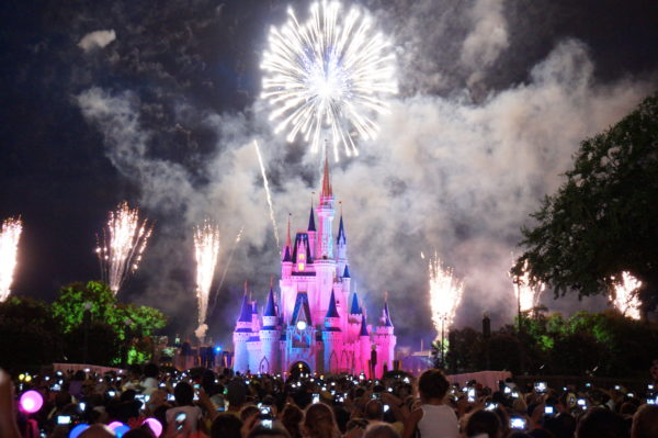 You'll want to find a good spot to watch the fireworks in Magic Kingdom because the best spots fill up quickly!