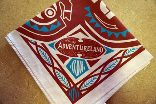 One red and white Adventureland napkin.
