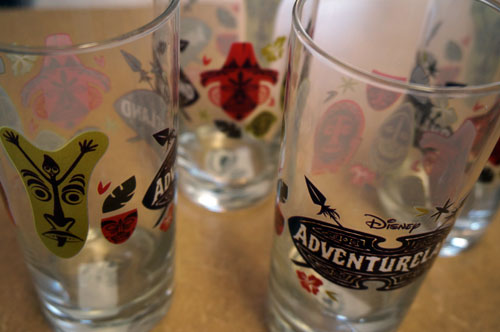 Four Adventureland glasses.