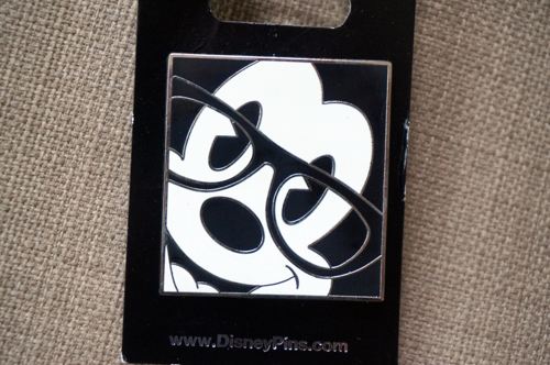 Cool Mickey wears glasses.