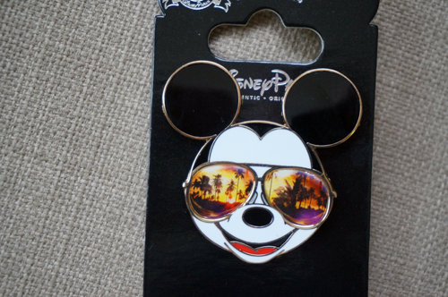 Cool Mickey wears shades.