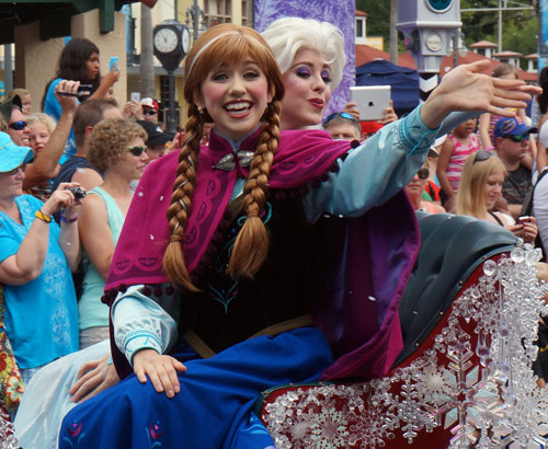 Win a trip to Disney World where you can see Anna and Elsa.