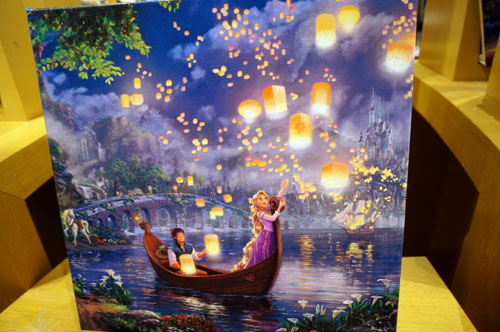 Tangled and the floating lanterns.