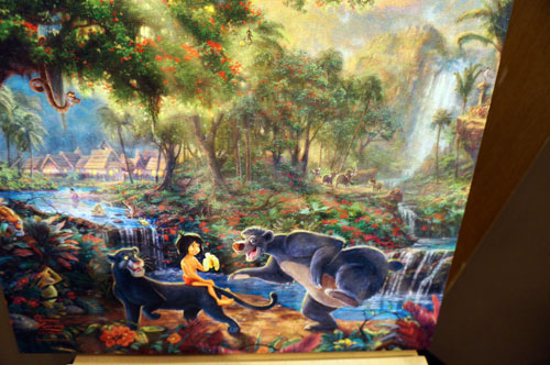Painting of The Jungle Book.