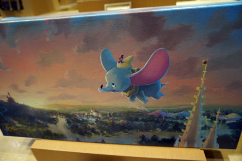 Dumbo flies the beautiful skies.