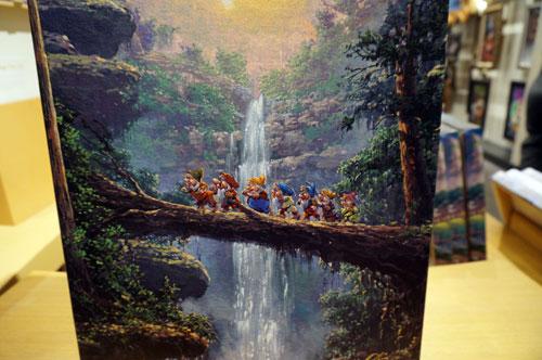 The Seven Dwarfs head off to work.