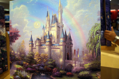 The painting of Cinderella Castle is beautiful.