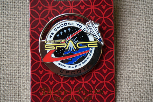 Mission: Space logo pin.