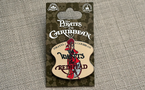This is a fun Pirates-themed pin:  We Wants the Redhead