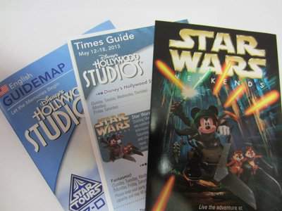You can win one of three sets of the Star Wars Weekends Event Guide, Times Guide, and Guide Map.