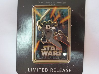 You can win this limited edition Star Wars Weekend 2013 Disney Trading pin with Mickey Mouse.