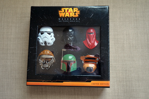 The Helmet Pin Set comes in a nice display box.