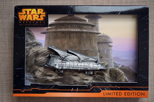 Jabba's Sail Barge as a jumbo hinged pin.