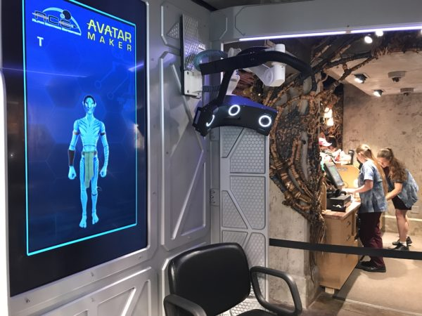 There are two stations where you can get scanned to make an Avatar.