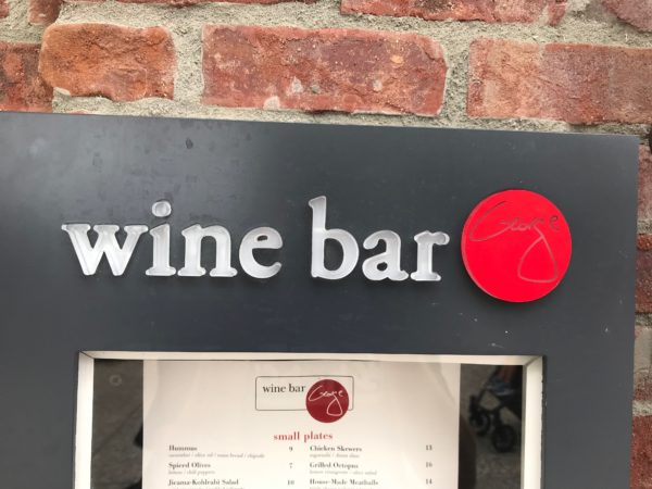 The Wine Bar George menu includes a selection of wine (by the glass and the bottle) as well as small plates.