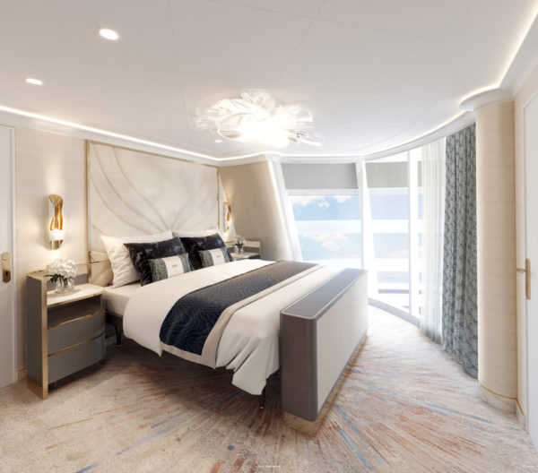 The bedrooms exude a luxurious feel.
