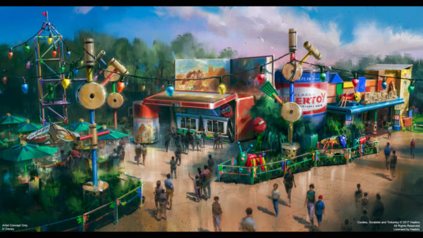 Woody's Lunchbox in Toy Story Land. Photo credits (C) Disney Enterprises, Inc. All Rights Reserved