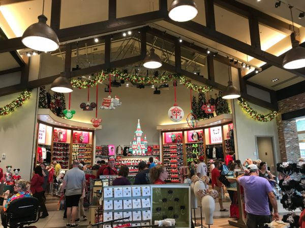 World of Disney is decorated for Christmas, and they have plenty of holiday-themed merchandise already available!
