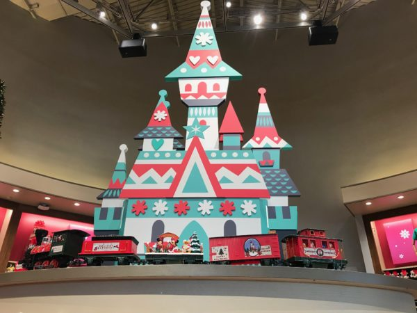 This Mary Blair-inspired train is a nice addition to the store for Christmastime!