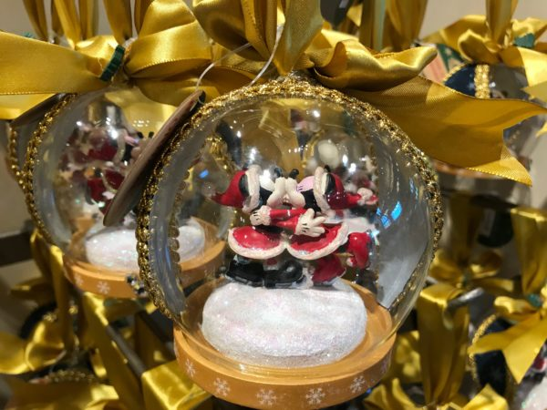 Mickey and Minnie Christmas Ornament Snowglobe - $24.99