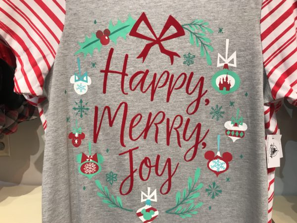 Festive holiday shirt.